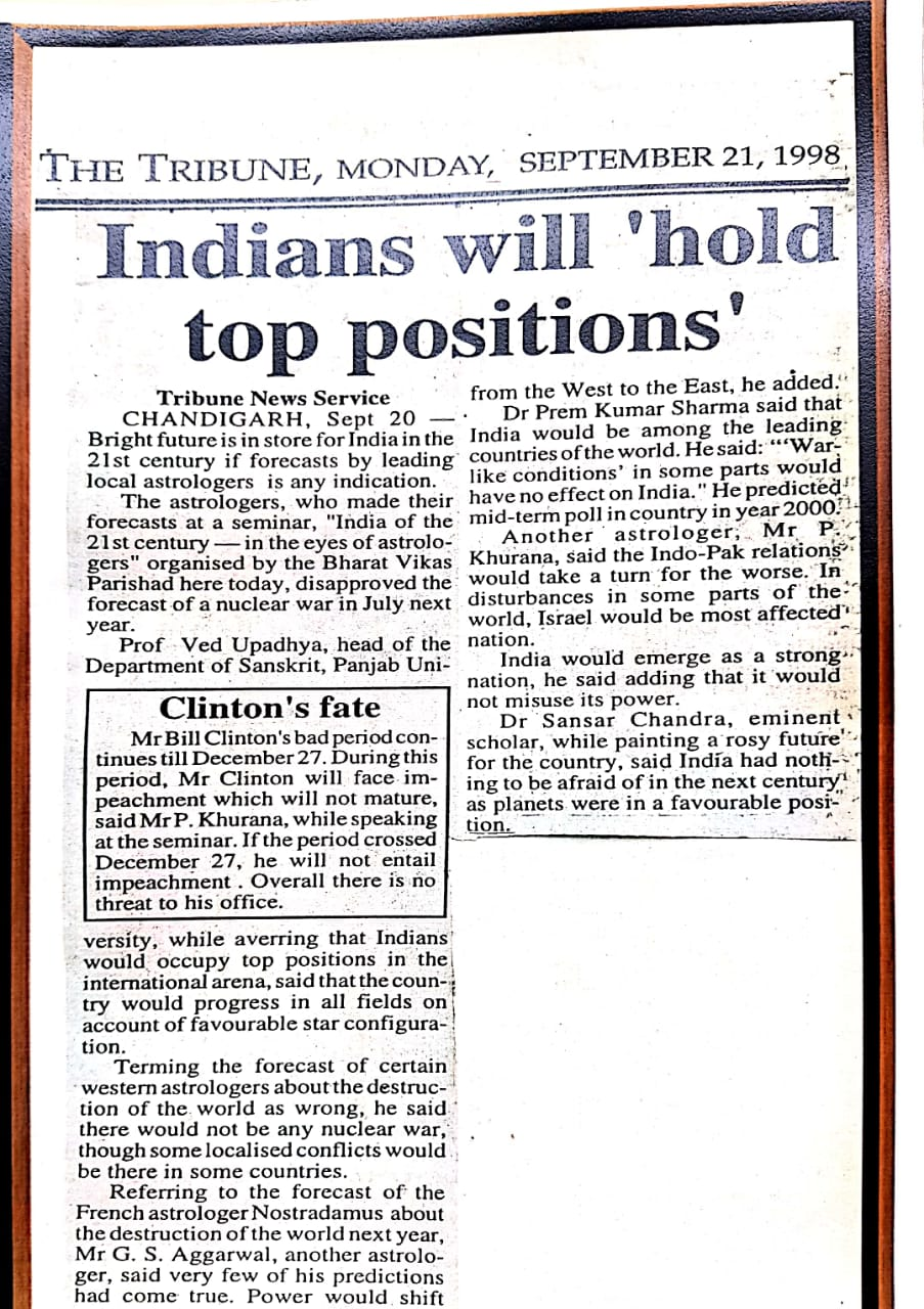 Indians will 'hold top positions'