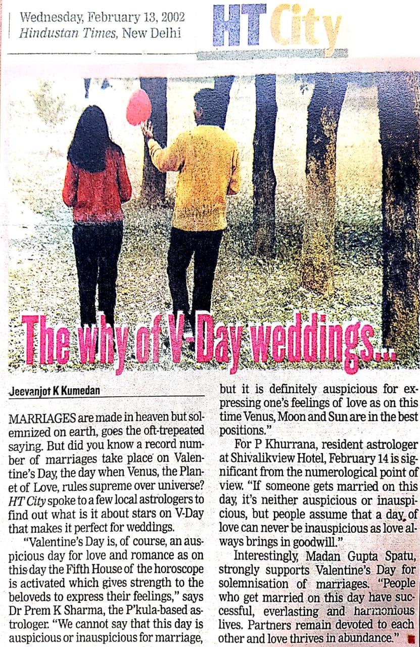 The Why of V-Day weddings..